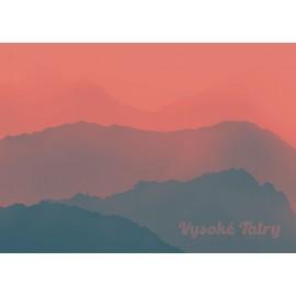 Retro Poster - Vysoké Tatry západ slnka