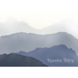 Retro Poster - Vysoké Tatry modré