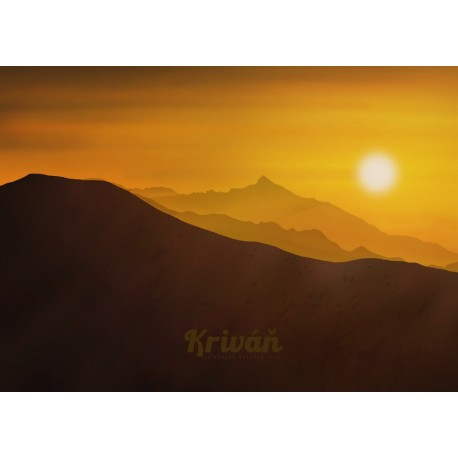Poster - Krivan vychod slnka